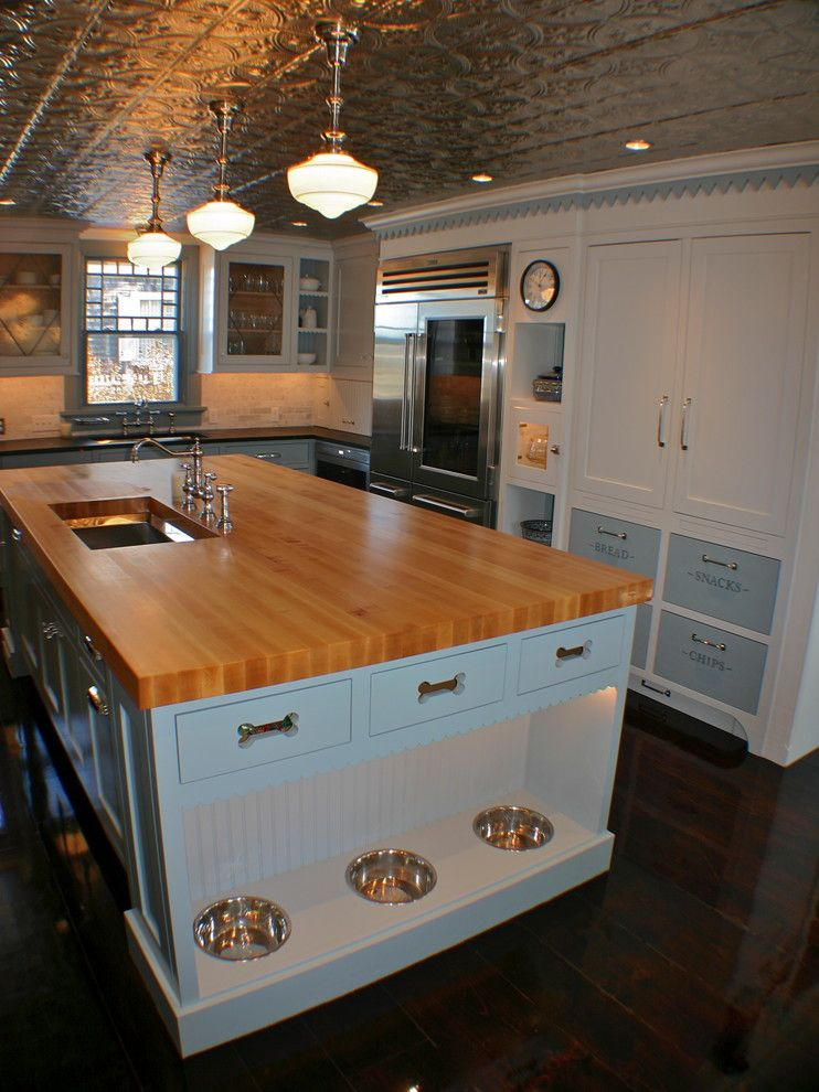 Bach Medical Supply for a Traditional Kitchen with a Leaded Glass and Seaside Whimsy in Centerville, Ma by Artisan Kitchens Inc.