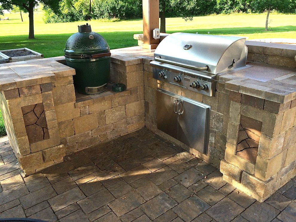 Backyard Makeover for a Contemporary Patio with a Outdoor Bbq and Dream Backyard Makeover by Archadeck of Central Iowa