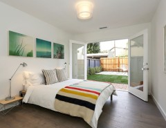 Backyard Masters for a Contemporary Bedroom with a Glass Doors and Fountain by Echo Ranch Staging