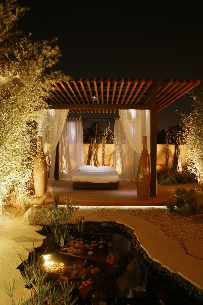Backyard Masters for a Contemporary Patio with a Contemporary and Desert Oasis by Elevate Interiors + Design