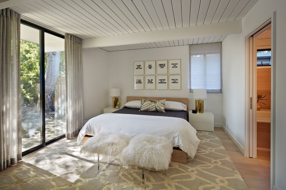 Backyard Masters for a Midcentury Bedroom with a Bedding and Finlay Eichler Major Remodel by Flegel's Construction Co., Inc.
