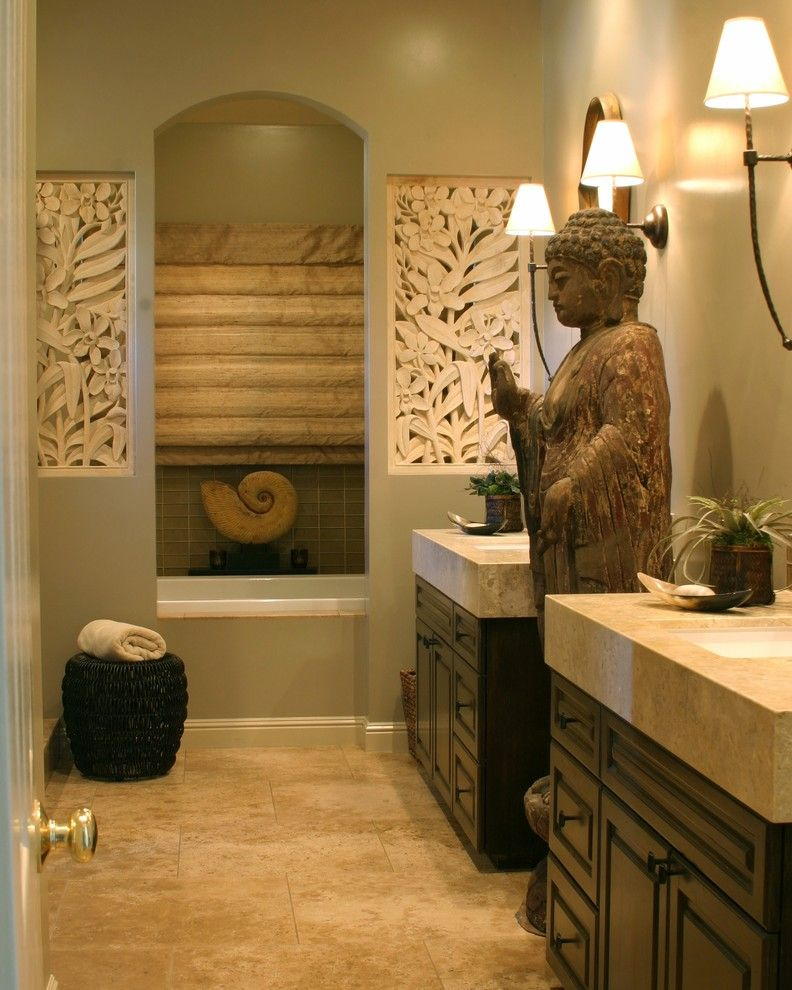 Balis for a Asian Bathroom with a Buddha and Zen Space by Gayle Wainwright