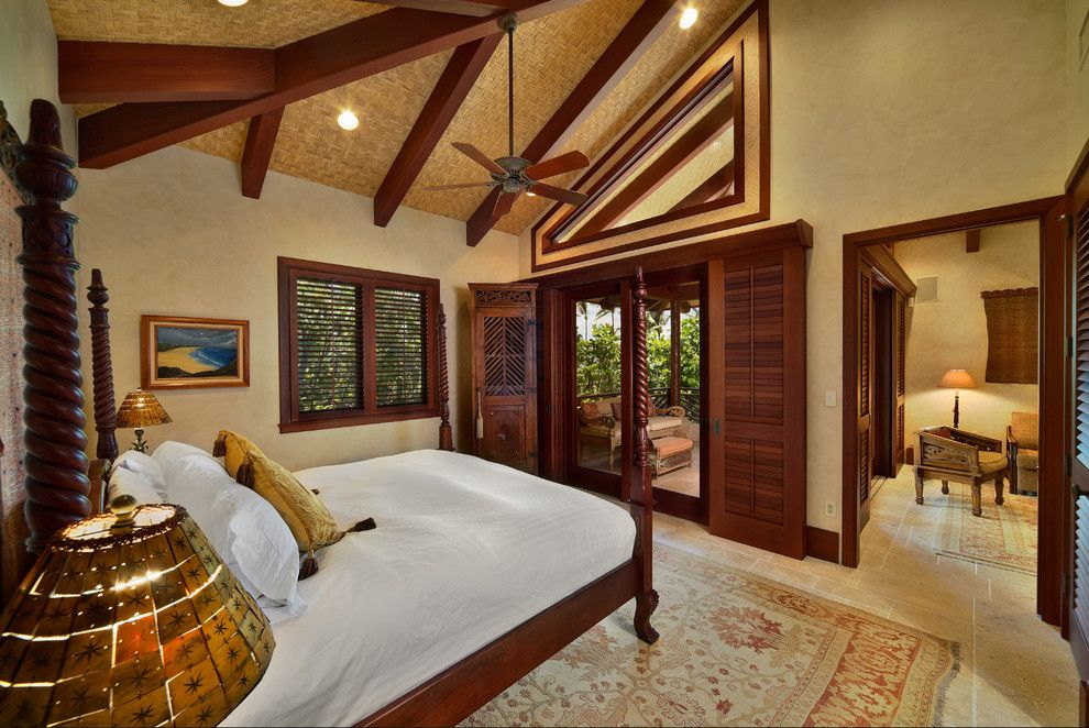 Balis for a Tropical Bedroom with a Bali Style and Bali House by Rick Ryniak Architects