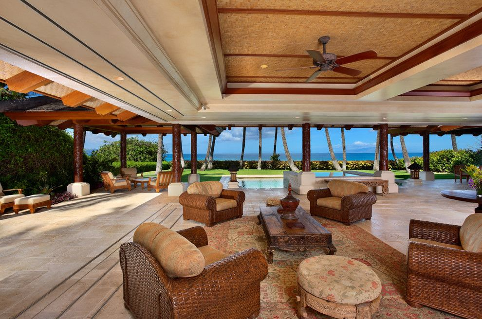 Balis for a Tropical Living Room with a Pavilion and Bali House by Rick Ryniak Architects