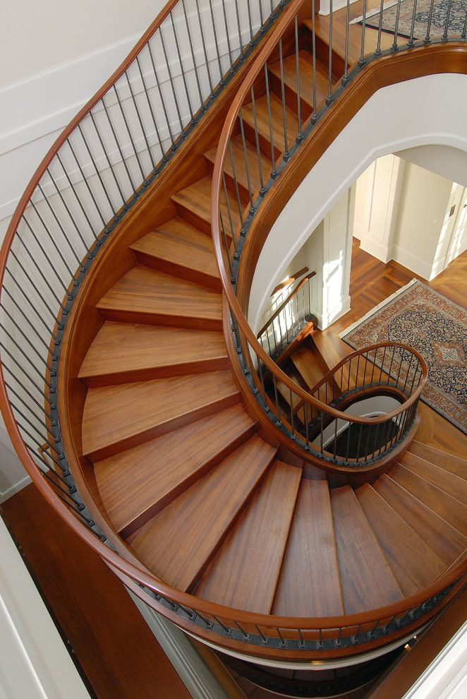 Ballister for a Traditional Staircase with a Iron Railing and Belvedere Avenue Residence by Sutton Suzuki Architects
