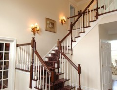 Ballister for a Traditional Staircase with a Oriental Rug and Bain - Stairs by Barenz Builders