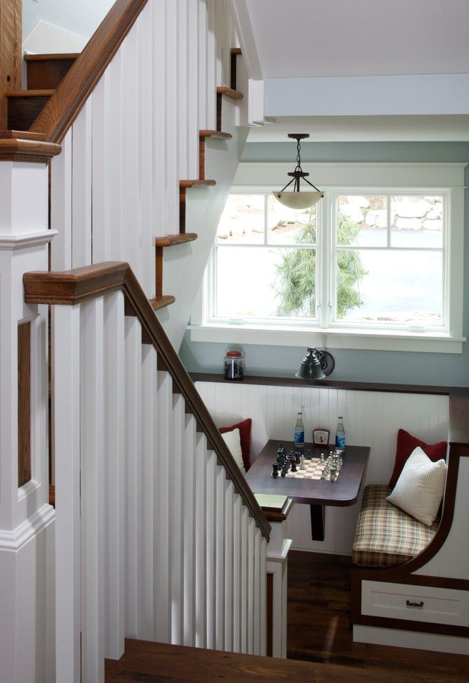 Ballister for a Traditional Staircase with a Staircase Landing and Staircase Booth by Visbeen Architects