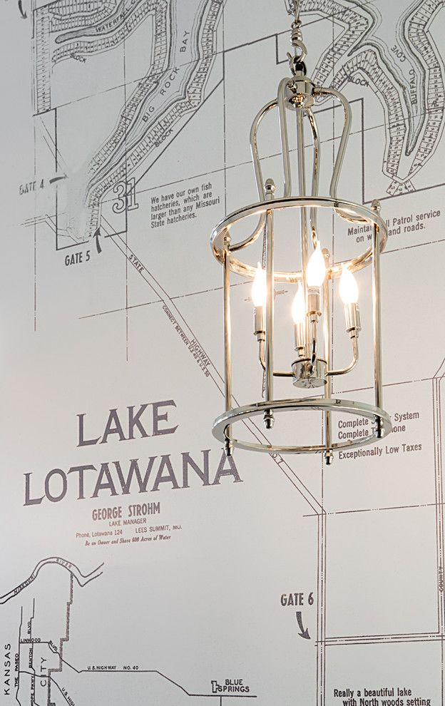 Barbara Cosgrove for a Contemporary Entry with a Floor Lamp and Pendant Lantern by Barbara Cosgrove Lamps