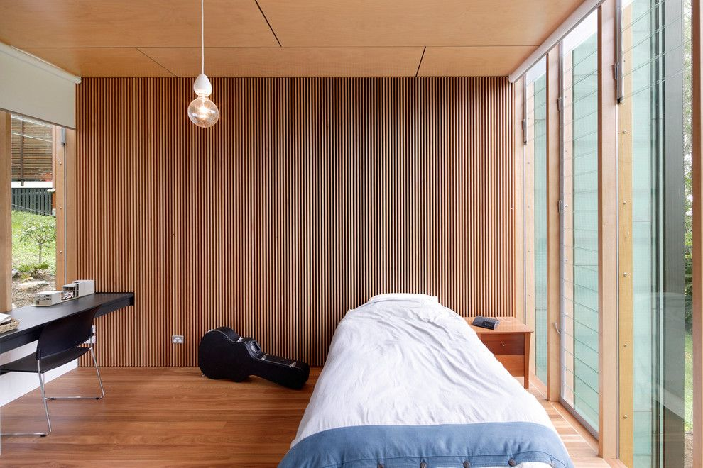 Barden Homes for a Contemporary Bedroom with a Bedroom and Brisbane Home by Zeitgeist Photography