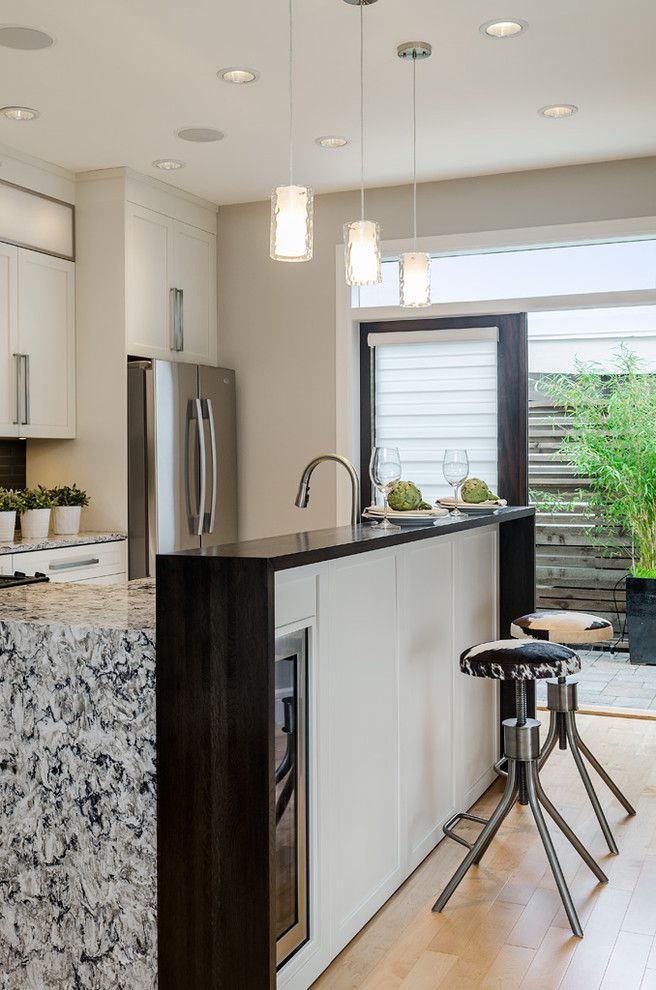 Barden Homes for a Contemporary Kitchen with a Cowhide and Brownstone by Jenny Martin Design