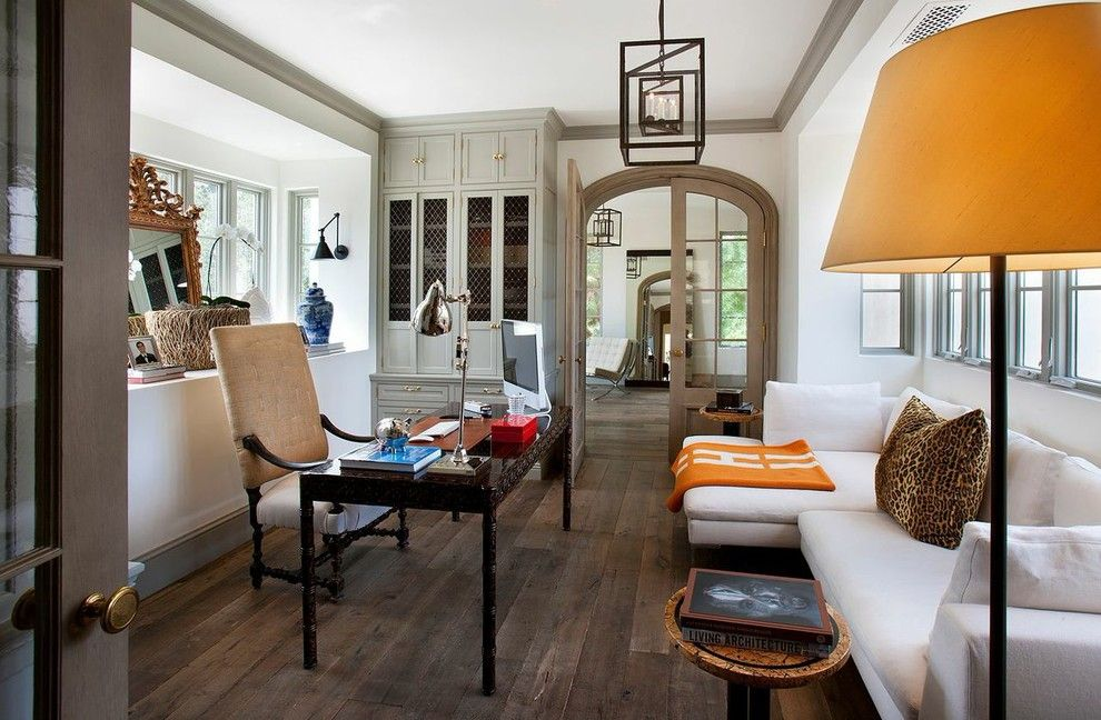 Barden Homes for a Mediterranean Home Office with a Arched Door and Arcadia in Phoenix by Nance Construction
