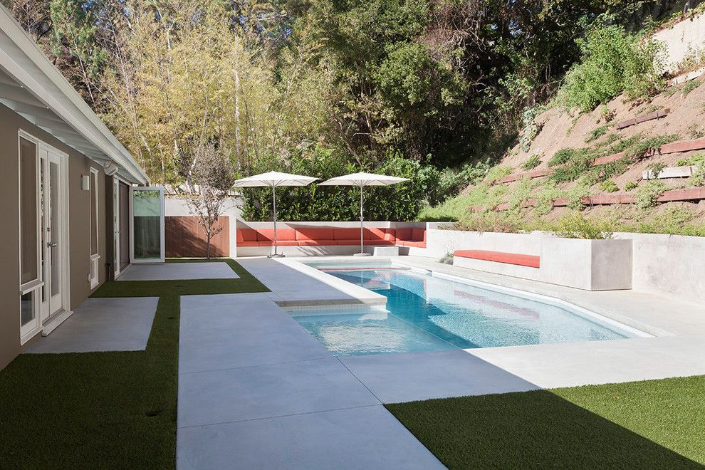 Barden Homes for a Modern Pool with a Remodeled and Hollywood Hills Tract Home Renovation by Lane Barden Photography