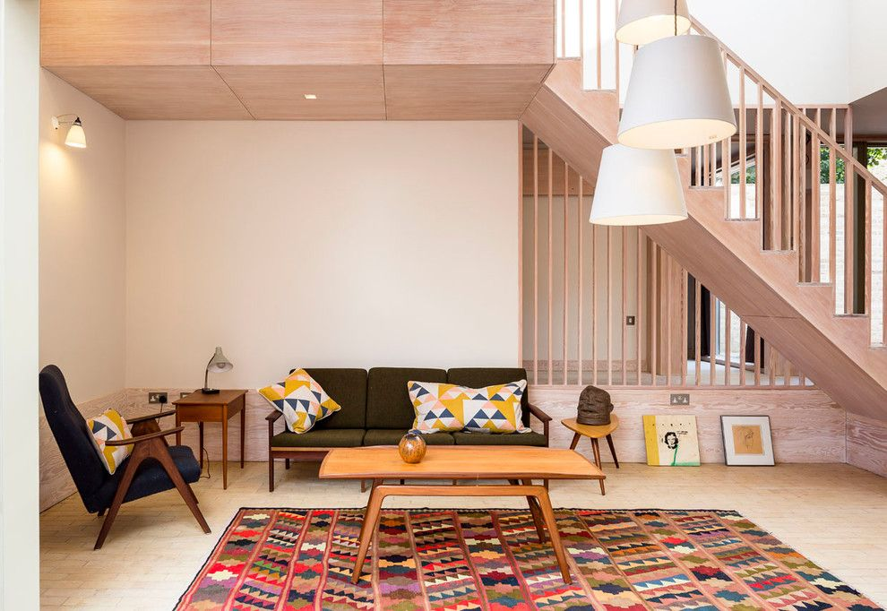 Bare Bones Furniture for a Contemporary Living Room with a Danish Modern Sofa and Church Walk by Mikhail Riches