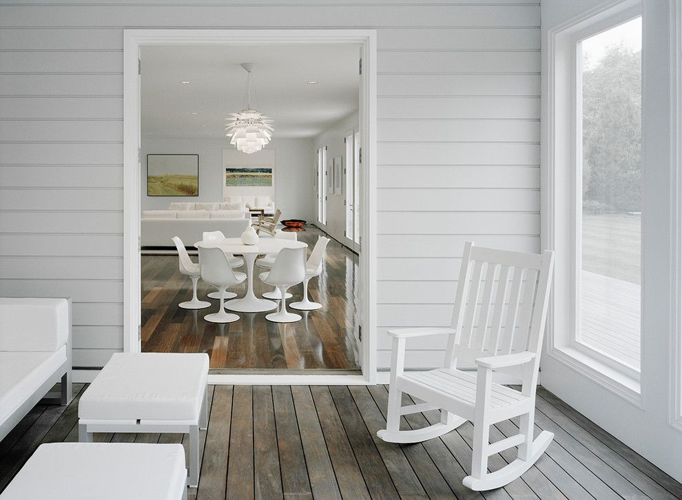 Bare Bones Furniture for a Contemporary Porch with a Indooroutdoor and New York Residence by Harry Elson Architect Pc