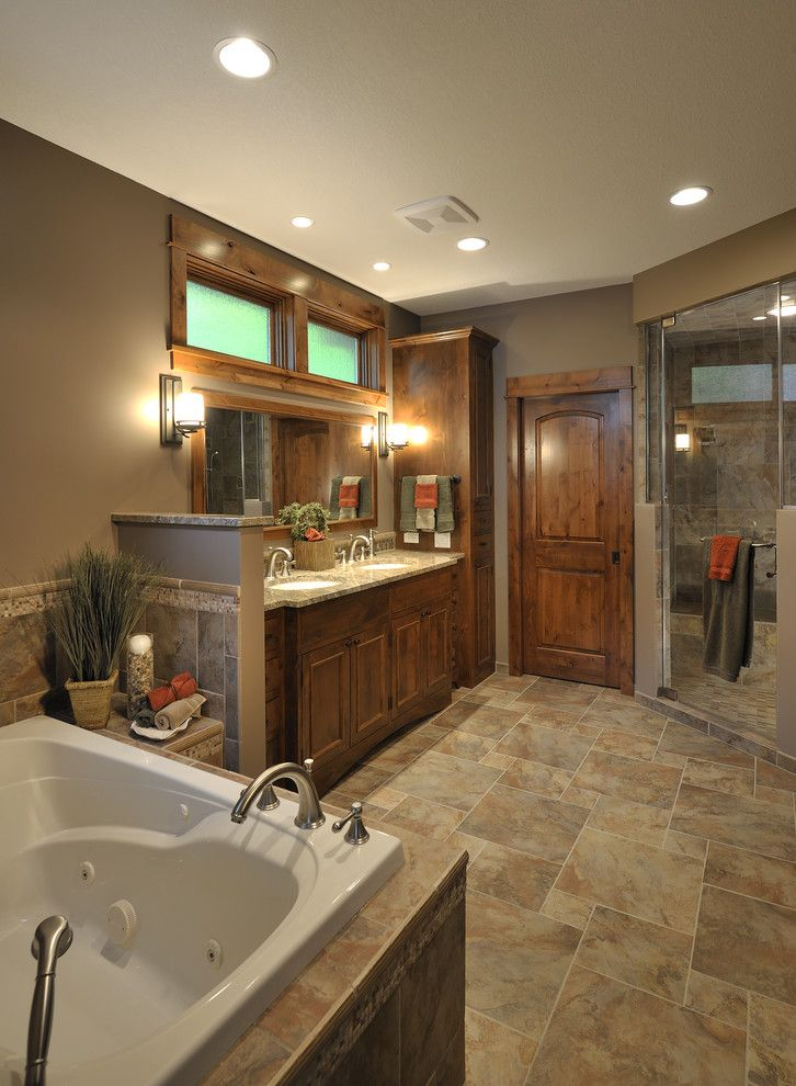 Barndominium Floor Plans for a Traditional Bathroom with a Wood Trim and Lake Country Builders by Lake Country Builders