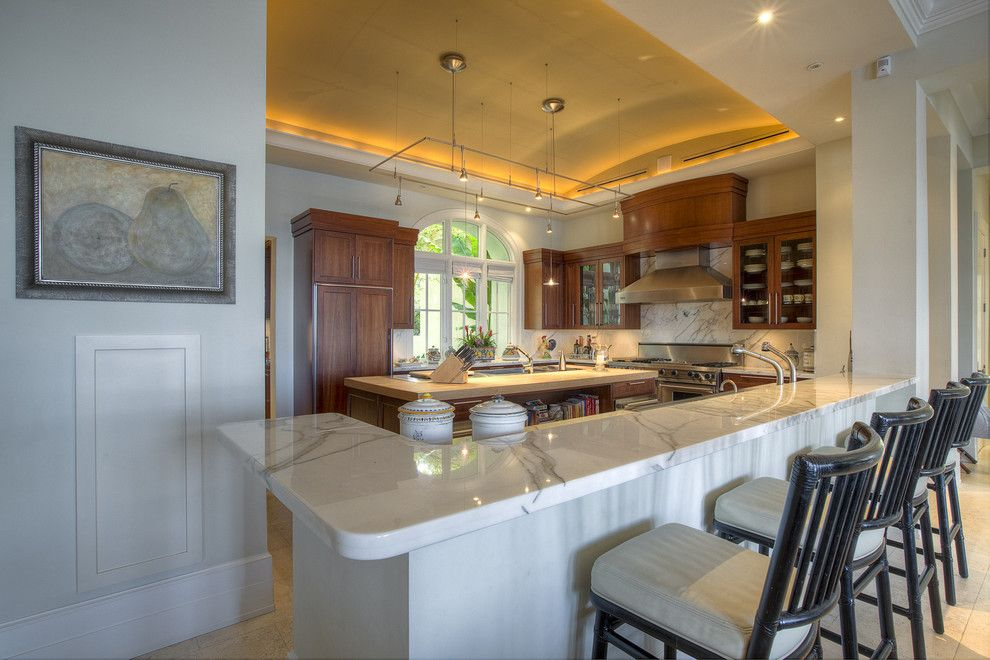 Barrel Vault for a Contemporary Kitchen with a Suspension Lights and Solano by Dorlom Construction