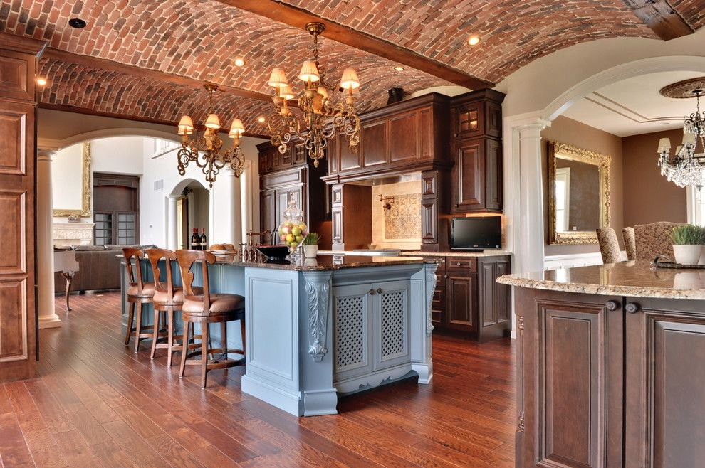 Barrel Vault for a Mediterranean Kitchen with a Curved Ceiling and Kitchen by Echelon Custom Homes