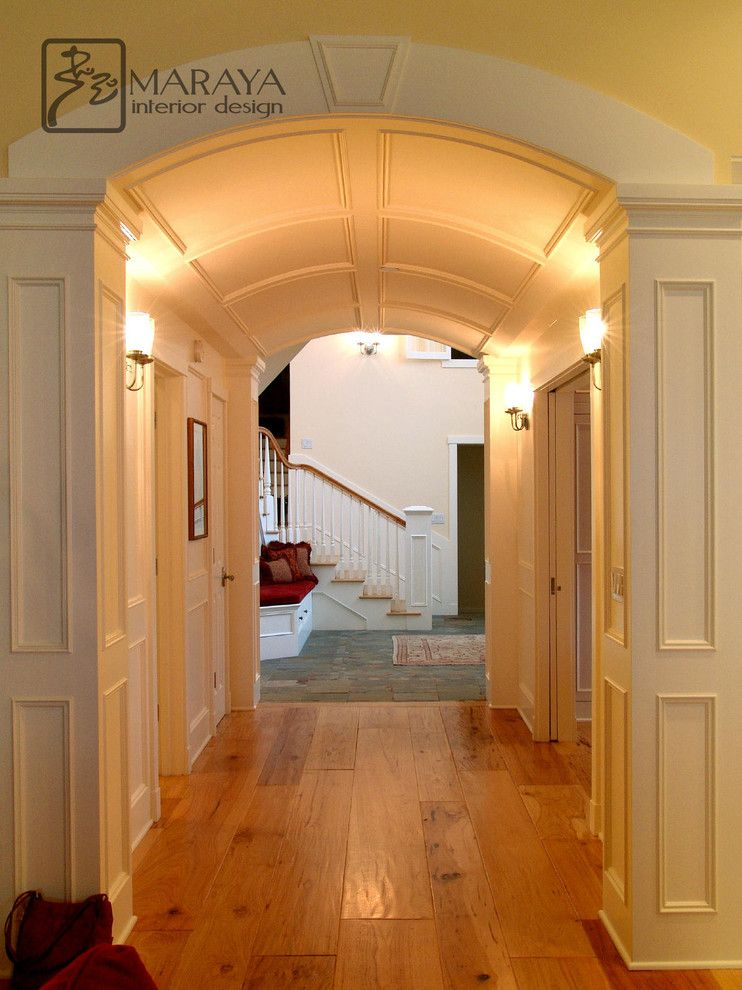Barrel Vault for a Traditional Hall with a Cape Cod and Barrel Vault Paneled Arched Hallway by Maraya Interior Design