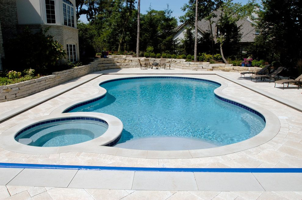 Barrington Pools for a Traditional Pool with a Barrington Inground Pool and North Barrington, Il Freeform Pool and Spa with Picture Frame Automatic Cover by Platinum Poolcare