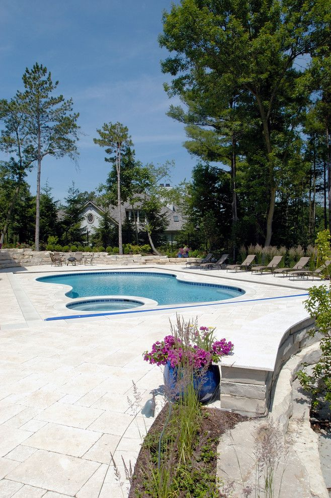 Barrington Pools for a Traditional Pool with a North Barrington Swimming Pool and North Barrington, Il Freeform Pool and Spa with Picture Frame Automatic Cover by Platinum Poolcare
