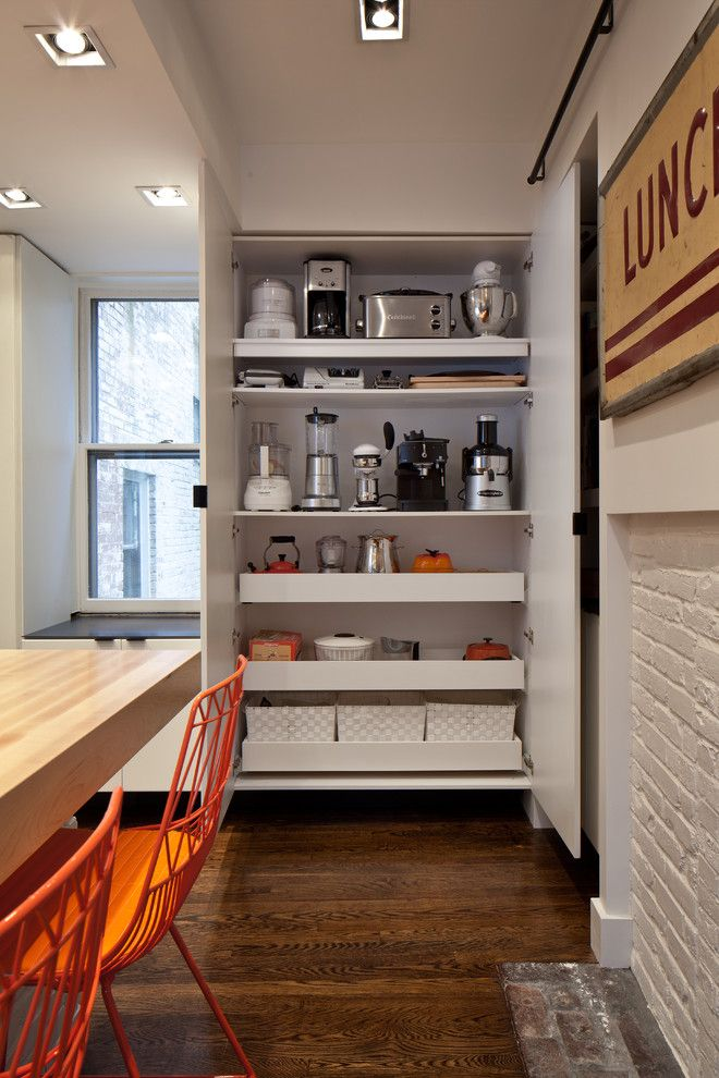Barstool Boston for a Contemporary Kitchen with a Steel Shelving and Bh1 by Bunker Workshop
