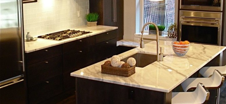 Barstool Boston for a Contemporary Kitchen with a Tile Backsplash and Kitchens by Melissa Miranda Interior Design