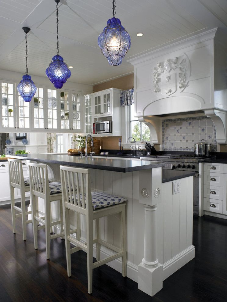 Barstool Boston for a Traditional Kitchen with a Glass Cabinetry and Woodmeister  Kitchen 2 by Woodmeister Master Builders