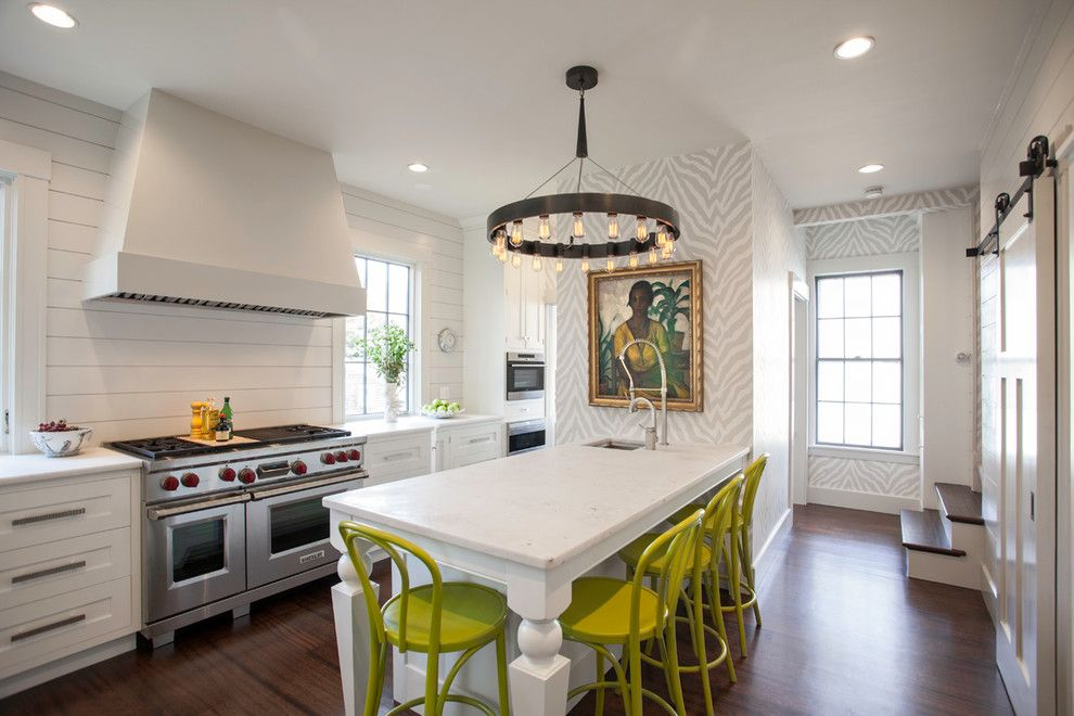 Barstool Boston for a Transitional Kitchen with a White and Swanson by Pennville Custom Cabinetry