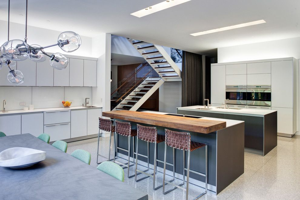 Barstool Chicago for a Industrial Kitchen with a Open Risers and Mid North Residence by Vinci | Hamp Architects