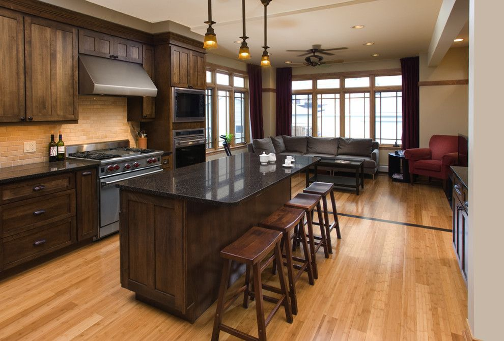 Barstool Chicago for a Traditional Kitchen with a Kitchen and Oakley Ave. Kitchen by Northlight Architects Llc