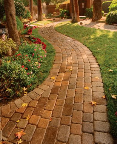 Basalite for a  Landscape with a Concrete Pavers and Walkway or Patio Pavers by Basalite Concrete Products