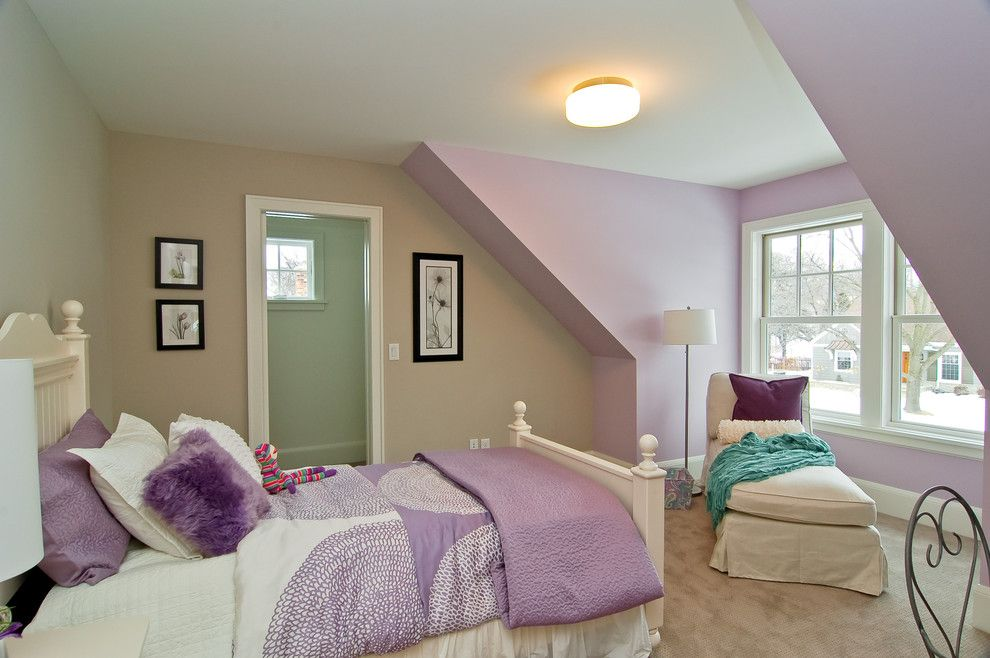 Bassett Mirror Company for a Traditional Kids with a Chaise and Great Neighborhood Homes by Great Neighborhood Homes