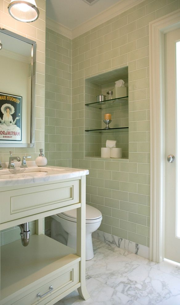 Bathroom Color Schemes for a Contemporary Bathroom with a Bathroom Floor and Northbrook Residence by Alan Design Studio