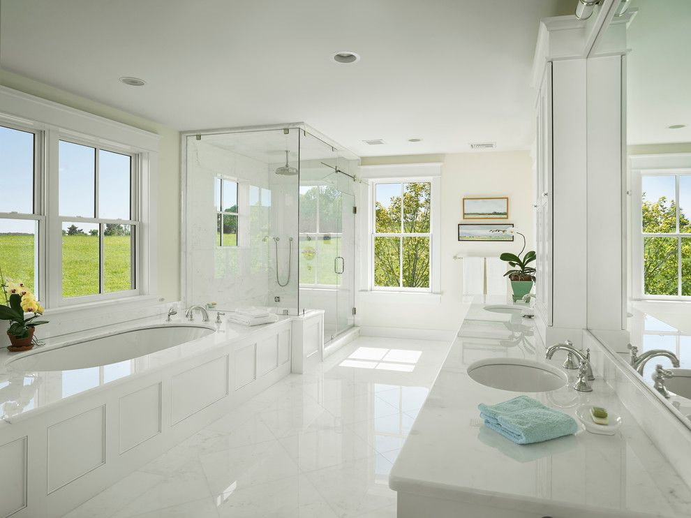 Bathroom Layouts for a Farmhouse Bathroom with a Large Bathroom and Farmhouse Bathroom by Hone.biz