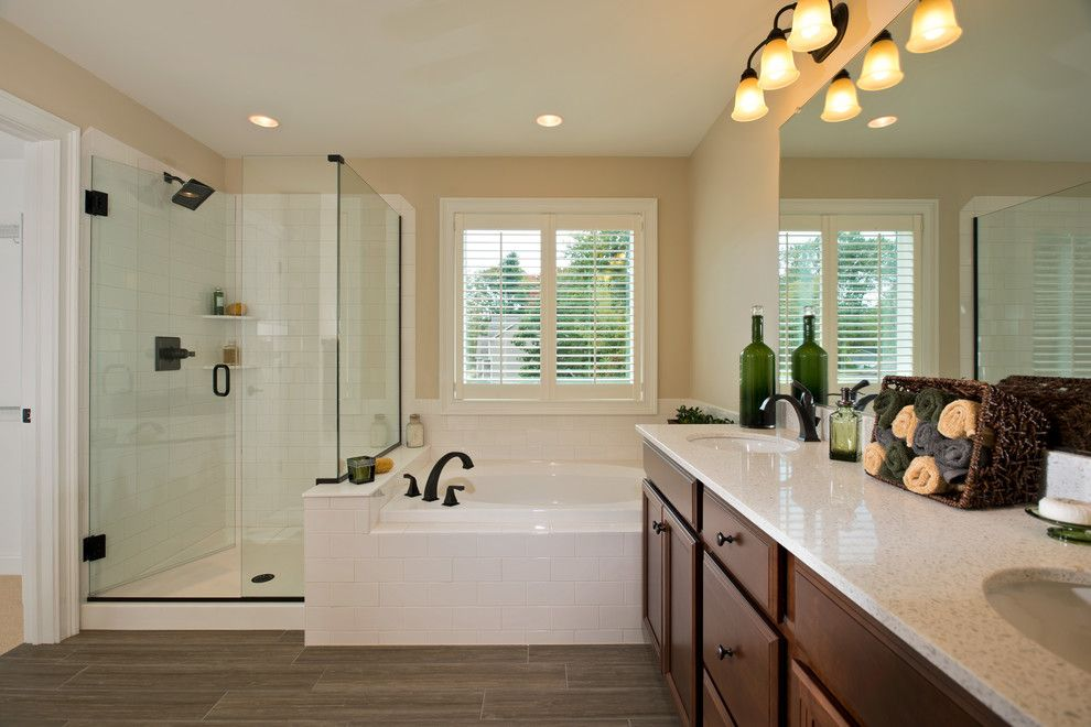 Bathroom Layouts for a Traditional Bathroom with a Interior Design and 2013 Showcase of Homes by Belmonte Builders