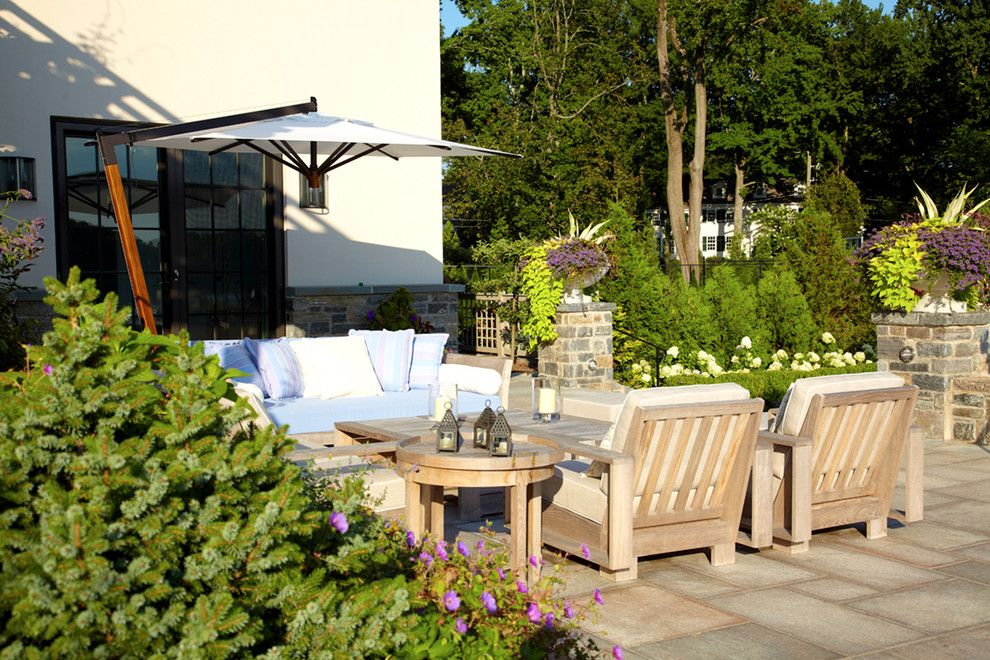 Batte Furniture for a Transitional Patio with a Addition and Greenwich Residence by LEAP Architecture