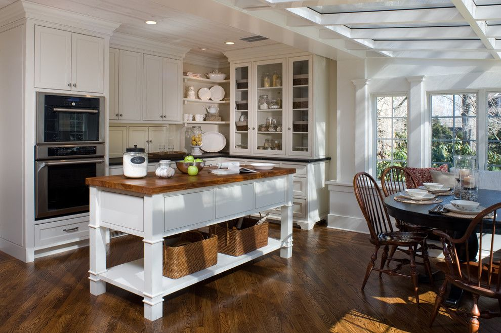B&b Appliance for a Traditional Kitchen with a Custom Cabintry and Woodland Estate by Kitchens by Eileen