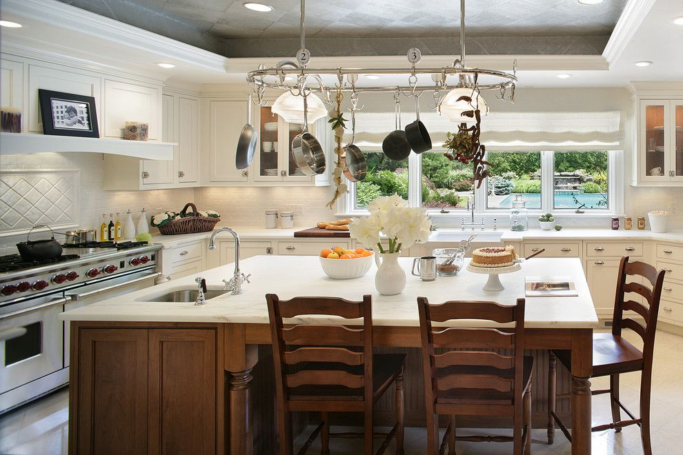 B&b Appliance for a Traditional Kitchen with a Traditional White Cabinets and Saddle River Showhouse by Kuche+Cucina