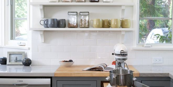 b&b Appliance for a Transitional Kitchen with a Cookbook Storage and San Roque Modern by Jessica Risko Smith Interior Design