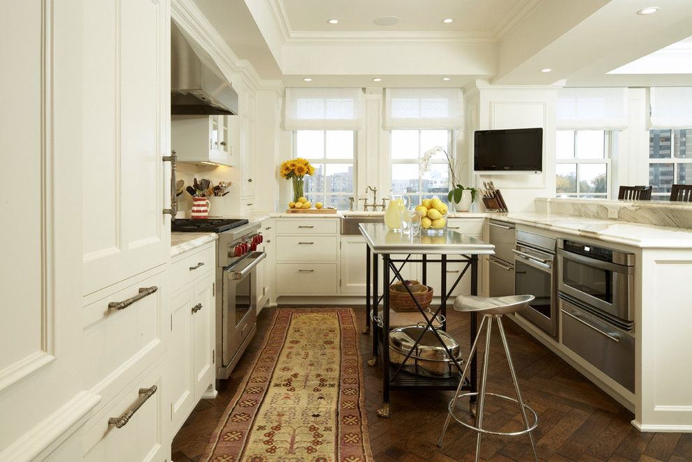 B&b Appliances for a Contemporary Kitchen with a White Roman Shades and Contemporary Kitchen by Gunkelmans.com