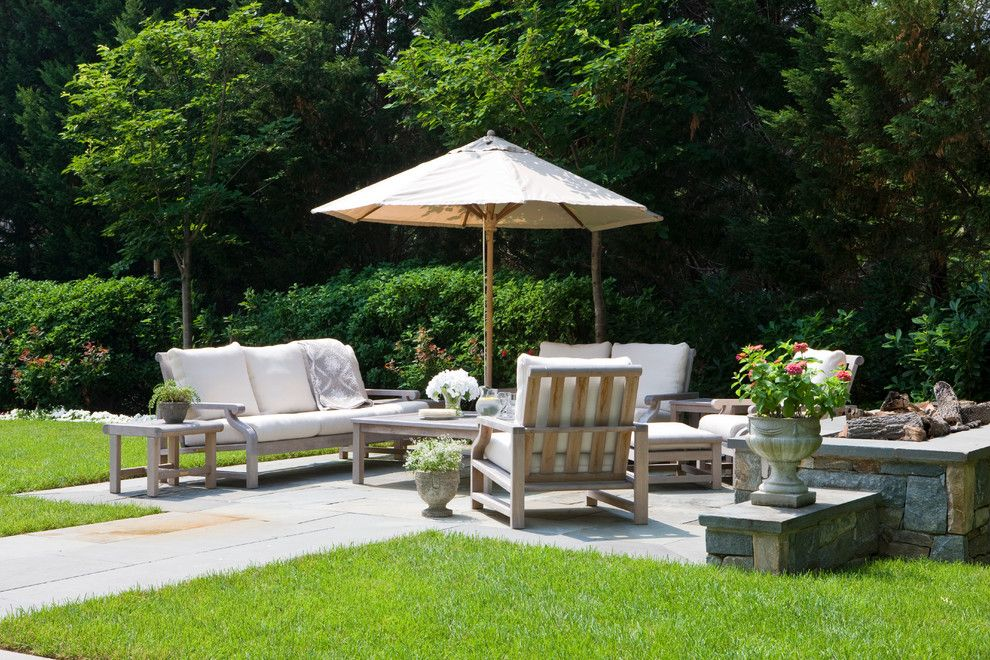 Beautiful Backyards for a Farmhouse Patio with a Farmhouse and 2010 House by Anne Decker Architects, Llc