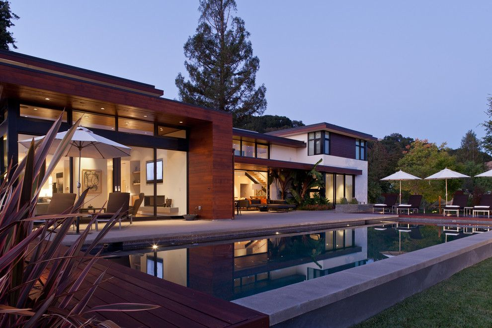 Beautiful Backyards for a Modern Pool with a Minimalist and Stein Residence by Swatt   Miers Architects