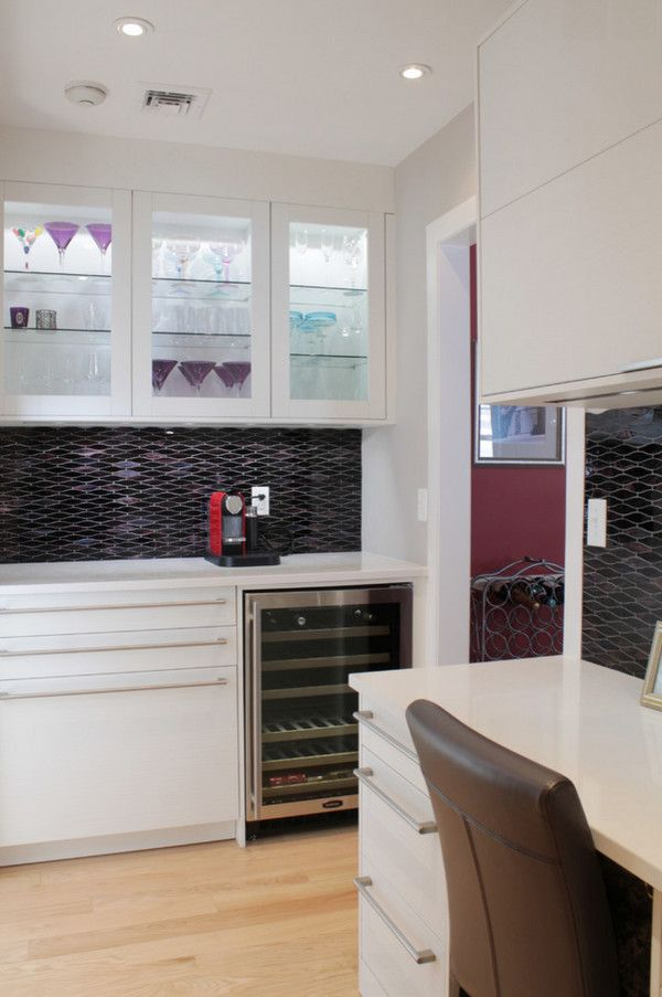 Beaver Tile for a Contemporary Kitchen with a Mosaic and Kitchens by Beaver Tile and Stone