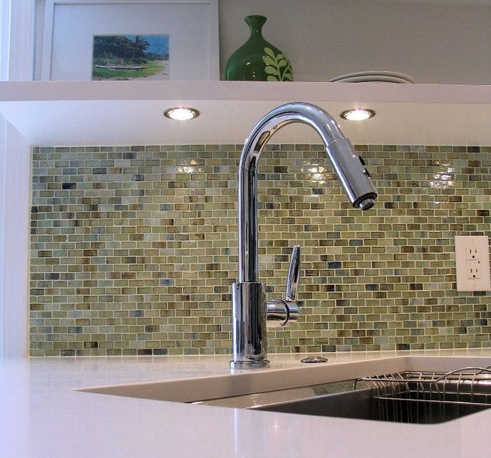 Beaver Tile for a Transitional Kitchen with a Glass Tile and Kitchens by Beaver Tile and Stone