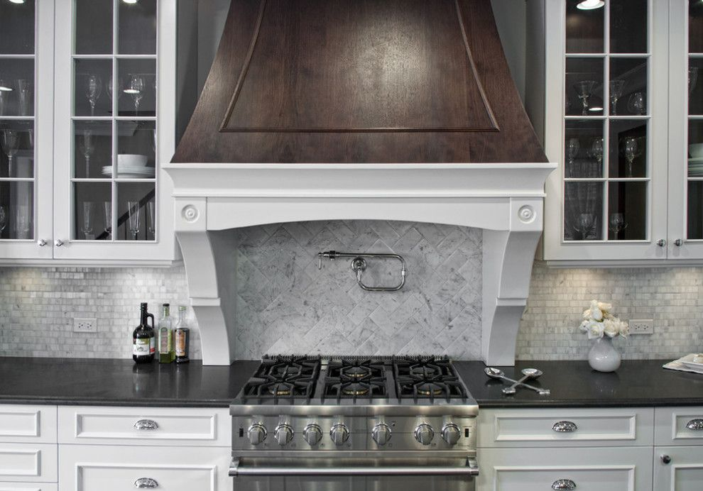 Beaver Tile for a Transitional Kitchen with a Kitchen Backsplash and Kitchens by Beaver Tile and Stone