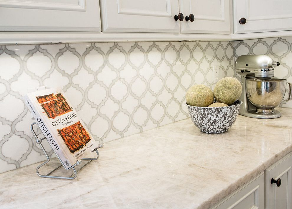 Beaver Tile for a Transitional Kitchen with a Mosaic and Kitchens by Beaver Tile and Stone