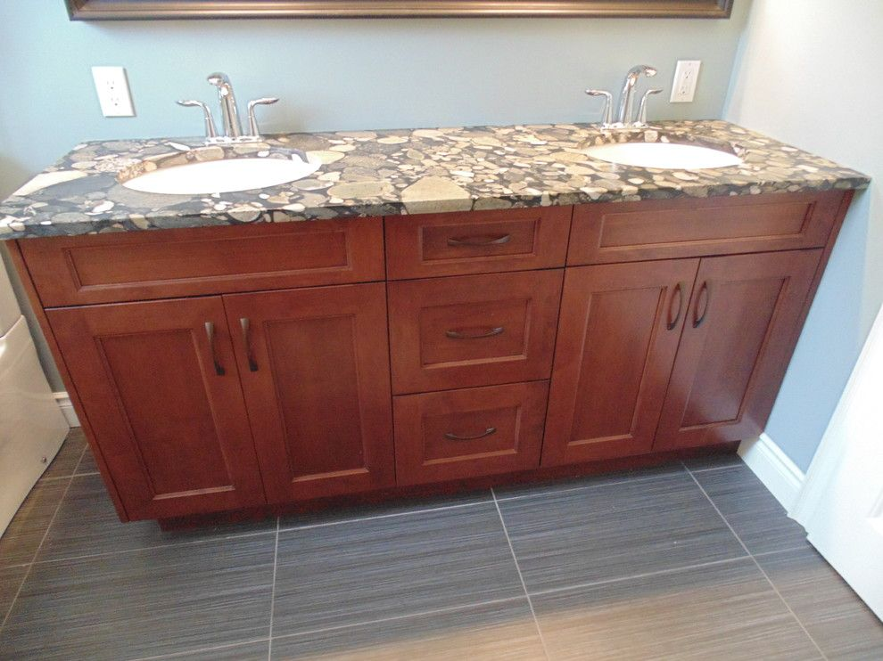 Bedrock Granite for a  Bathroom with a Vanity Top and Bedrock Vanity Top by Stonex Granite & Quartz