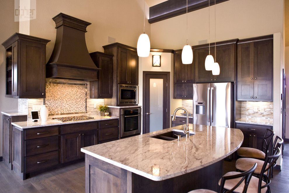 Bedrock Granite for a Modern Kitchen with a Modern and Kitchens by Cipher Imaging Architectural Photography