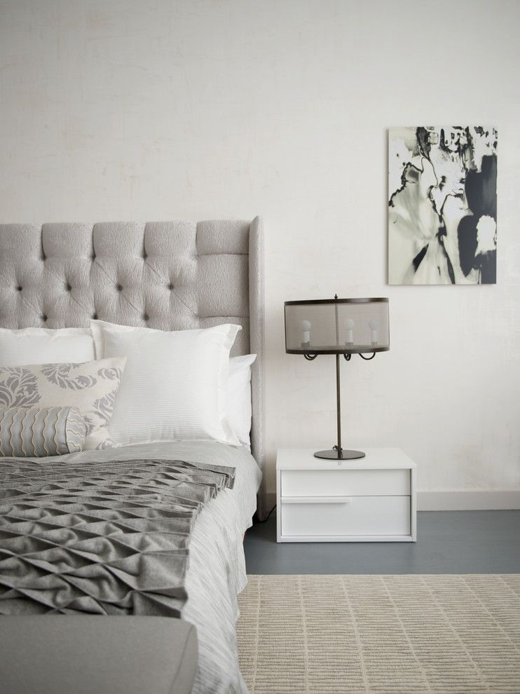 Bedroom Color Schemes for a Contemporary Bedroom with a Contemporary Furniture and Chelsea Loft by Betty Wasserman