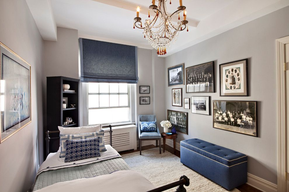 Bedroom Color Schemes for a Contemporary Bedroom with a Mascul and Fifth Ave by Joshua Smith Inc